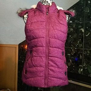 Fuzzy Hooded vest